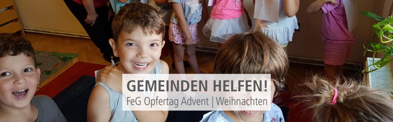 Gemeinden helfen!   FeG Opfertag Advent und Weihnachten