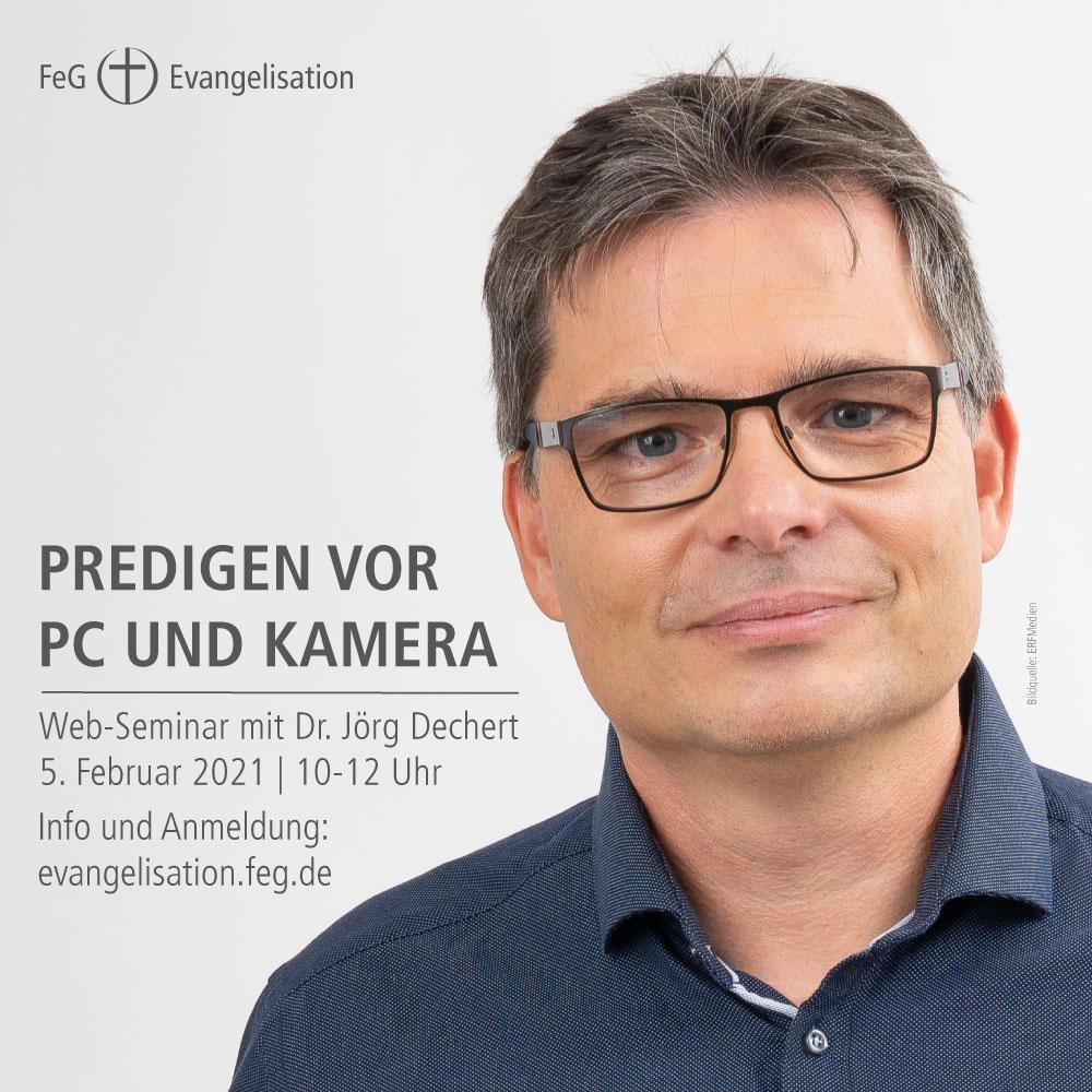 FeG Evangelisation | Web-Seminar Predigen vor PC und Kamera